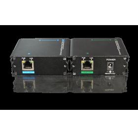 Комплект активен приемник и предавател за пренос на Ethernet/IP мрежов сигнал и PoE+ (IEEE 802.3at) по коаксиален кабел UTP7301EPOC