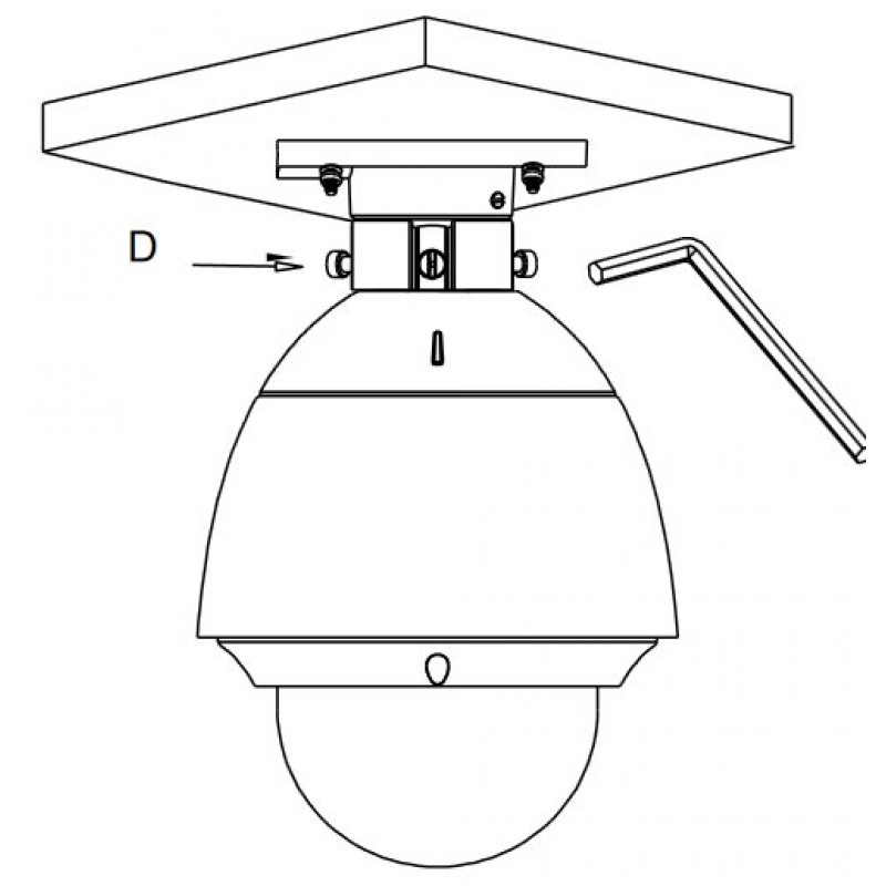 Стойка за таванен монтаж на PTZ камери Hikvision DS-1663ZJ