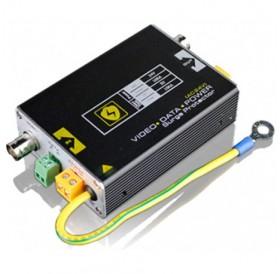 Гръмозащита по коаксиален кабел, захранващ кабел (12-24 Vac/Vdc) и UTP кабел (RS485 линия) USP201PVD24