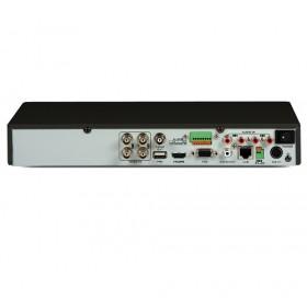 4-канален рекордер за видеонаблюдение с аудио по коаксиален кабел и запис на камери с до 8 MPx резолюция