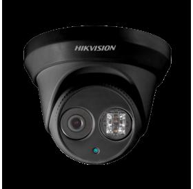 Черна 4.0 Мегапикселова куполна IP камера за видеонаблюдение HIKVISION, EXIR технология с обхват до 30 m