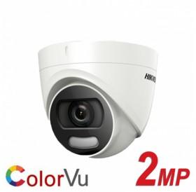 2 мегапикселова HD-TVI куполна камера за видеонаблюдение с ColorVu технология за цветна картина при пълна тъмнина