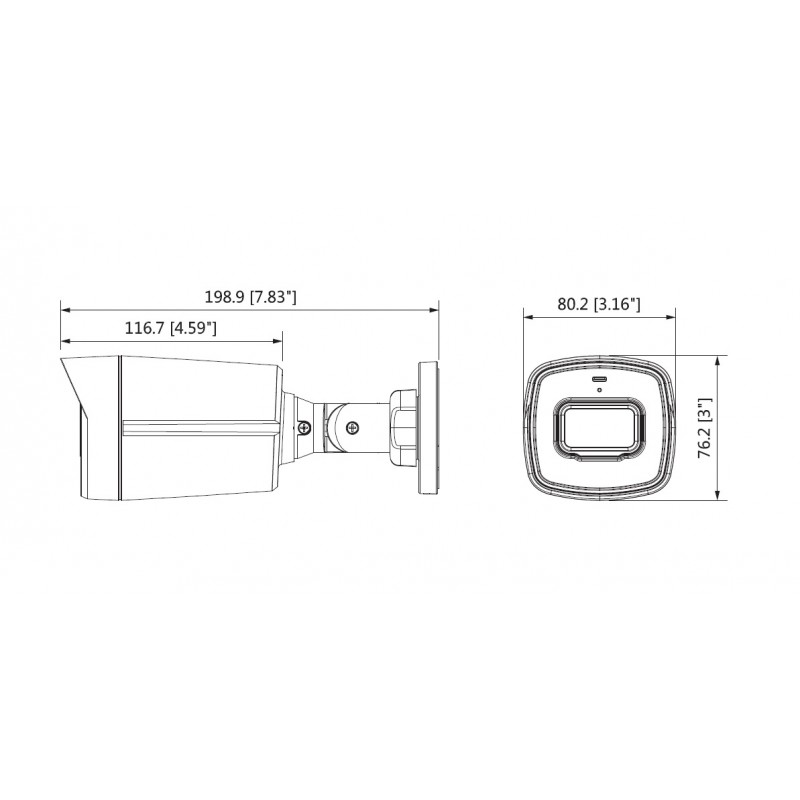 Камера bullet HDCVI 2MP, 3.6mm, IR 40m HAC-HFW1200TL-0360B-S4