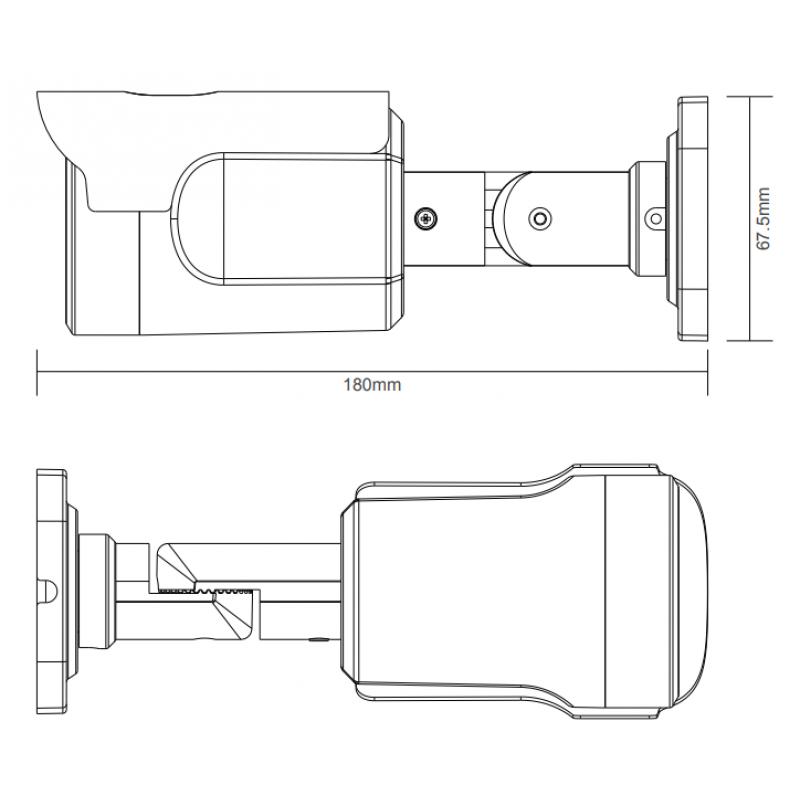 5Mpix IR 30m водоустойчива охранителна камера