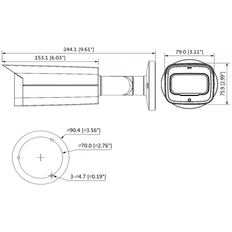 2 Megapixel Starlight+ True Day & Night  HDCVI водоустойчива 4в1, HAC-HFW2241T-Z-A-VP-0622