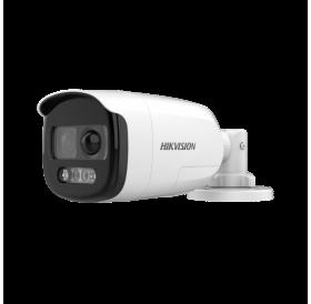 2 MP ColorVu HD-TVI корпусна камера за видеонаблюдение с вграден PIR и сирена DS-2CE12DFT-PIRXOF
