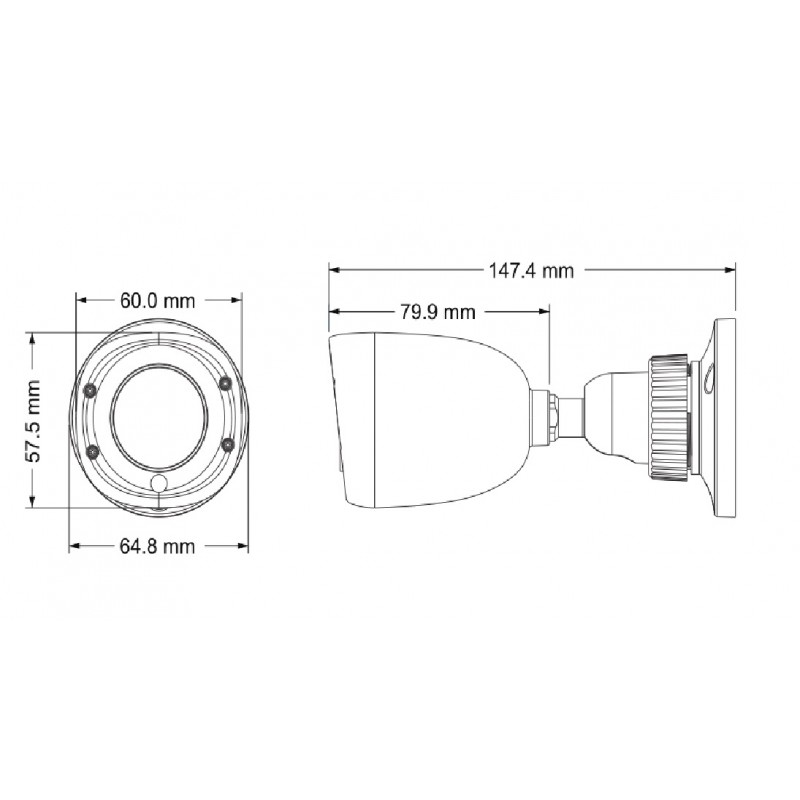 Камера bullet AHD, 2MP, 2.8mm TD-7420AS1(D/IR1)