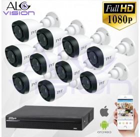 FULL-HD 1080P 10CH КОМПЛЕКТ ЗА ВИДЕОНАБЛЮДЕНИЕ