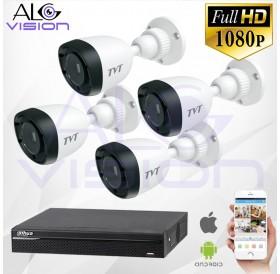 FULL-HD 1080P 4CH КОМПЛЕКТ ЗА ВИДЕОНАБЛЮДЕНИЕ