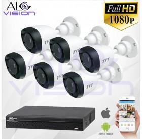 FULL-HD 1080P 6CH КОМПЛЕКТ ЗА ВИДЕОНАБЛЮДЕНИЕ