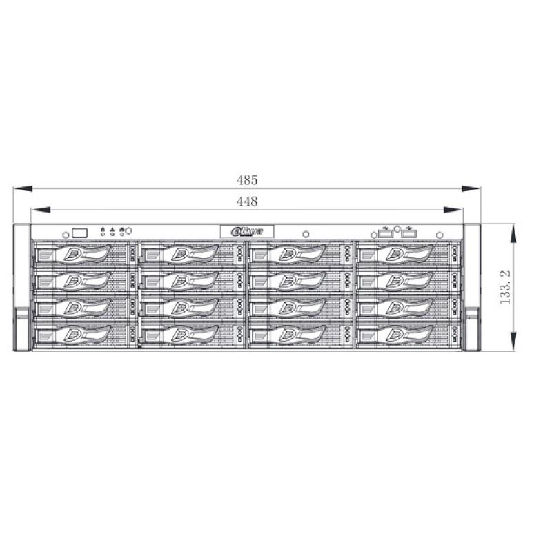 Мрежов видеорекордер 64ch, Ultra 4K, NVR616-64-4KS2