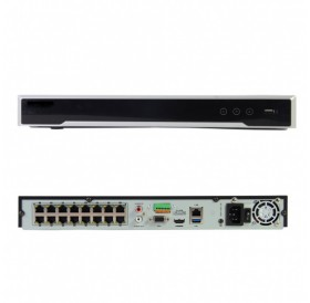 16-канален мрежов рекордер/сървър за видеонаблюдение HIKVISION с 16 вградени PoE порта