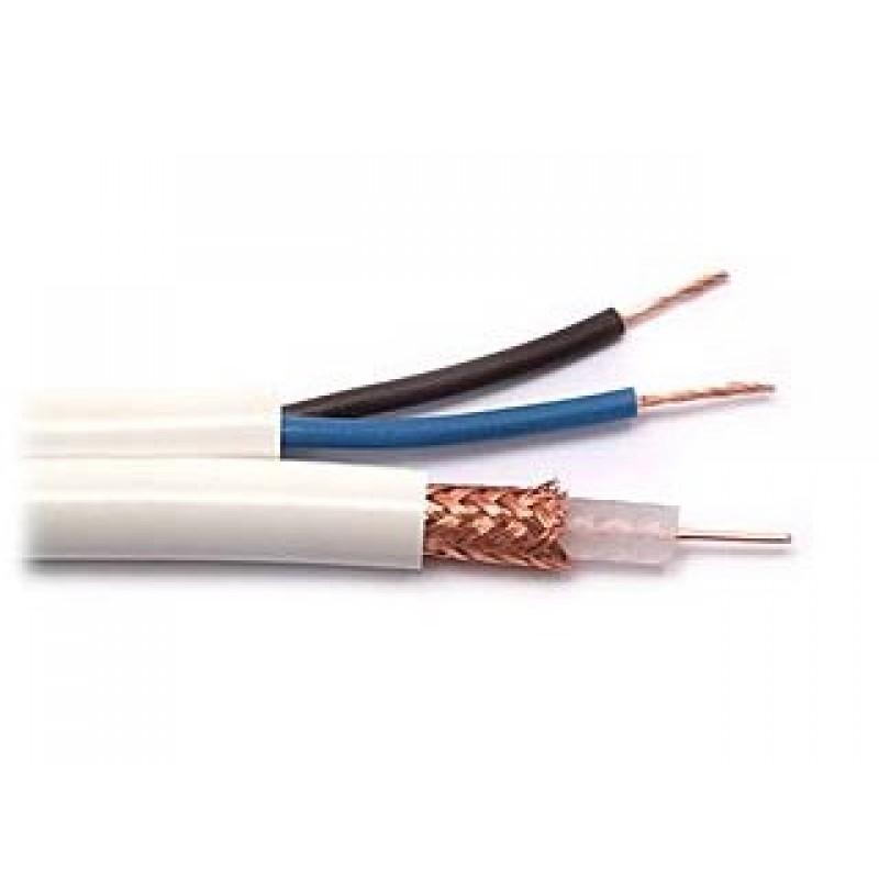 RG59+2x0.5 Комбиниран коаксиален кабел
