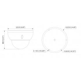 HDCVI PoC куполна камера HAC-HDBW2231R-Z-POC