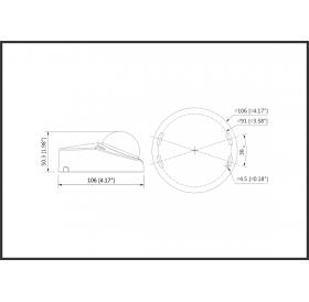 Камера dome HDCVI 2MP, Starlight, IR 20m, HAC-HDBW2241F-A-0280B