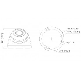 HDCVI куполна камера 1 MPixel HAC-HDW1000R-0280B-S3