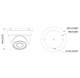 HDCVI куполна камера 4 МPixel HAC-HDW1400M-0360B