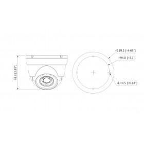 HDCVI куполна камера 4 МPixel HAC-HDW1400R-VF