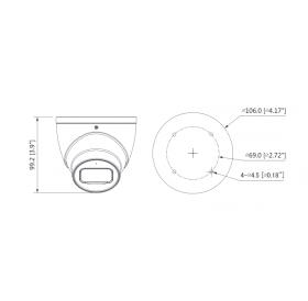 Камера Eyeball Starlight HDCVI 2MP, 3.6mm HAC-HDW2249T-A-0360B Dahua