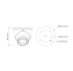 Камера Eyeball HDCVI 5MP, 2.8mm, IR 50m HAC-HDW2501T-A-0280B