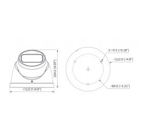 Камера Eyeball Starlight 5 MPixel HAC-HDW2501T-Z-A-27135 Dahua