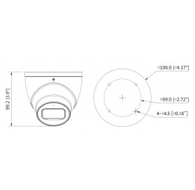 HDCVI 8 MPixel/UHD/4K куполна камера HAC-HDW2802T-A-0280B