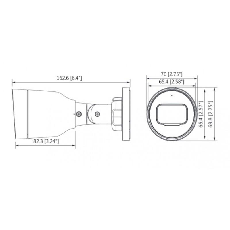 Камера mini-bullet IP, 1080P/2MP IPC-B1B20-0360B