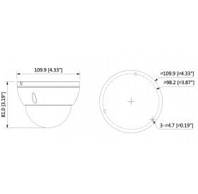 IP камера 5 МPixel IPC-HDBW1531E-S-0280B