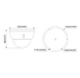 IP камера 4 МPixel IPC-HDBW2431R-ZS-27135