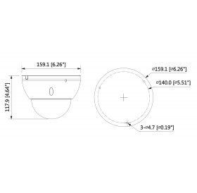 Камера dome IP 2MP, 2.7mm ~13.5mm motorized lens IPC-HDBW5231E-ZE-HDMI-27135