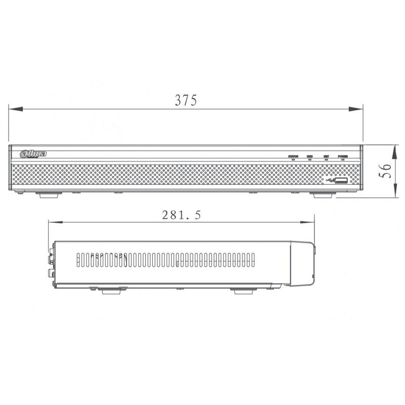 NVR4232-4KS2 - 32 канален мрежов рекордер NVR DAHUA