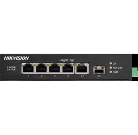 6-портов индустриален PoE мрежов комутатор DS-3T0306HP-E/HS